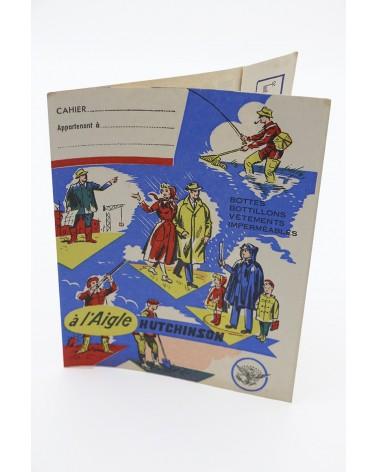 Protège-cahier publicitaire ancien Hutchinson à l'Aigle