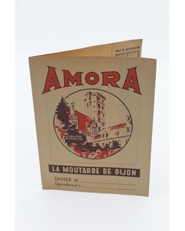 Protège-cahier publicitaire vintage Amora