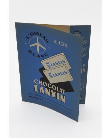 Ancien protège-cahier Chocolat Lanvin