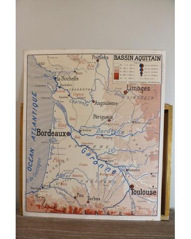 Affiche scolaire Bassin Aquitain - Midi méditerranéen Coopération Pédagogique