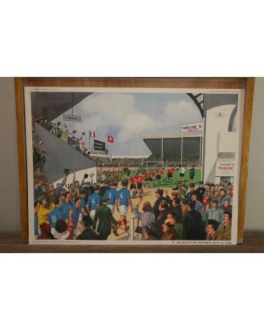 Affiche scolaire Rossignol Travaux d'automne - Un match de football