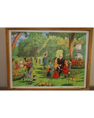 Affiche scolaire Rossignol Victor Hugo - Une école avant Jules Ferry