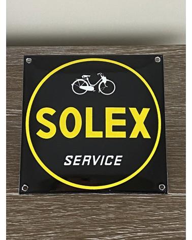 Plaque émaillée Solex Service