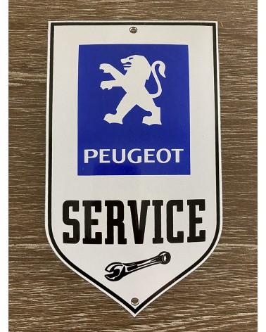 Plaque émaillée Peugeot Service