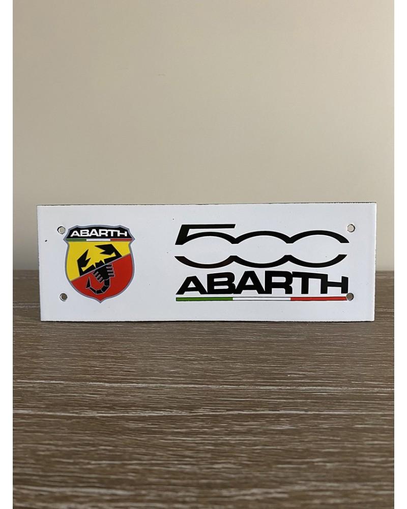 Plaque émaillée 500 Abarth