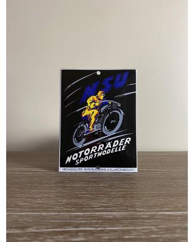 Plaque émaillée NSU MOTORR'A'DER SPORTMODELLE