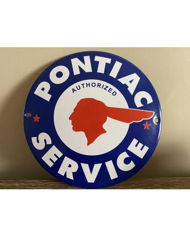 Plaque émaillée Pontiac Service