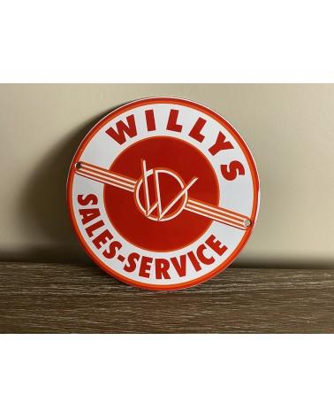 Plaque émaillée Willys Sales-service