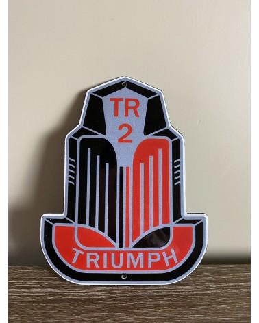 Plaque émaillée Triumph TR2