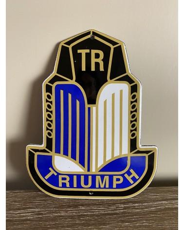 Plaque émaillée Triumph TR