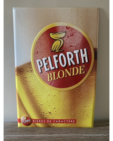 Plaque métal Pelforth Blonde