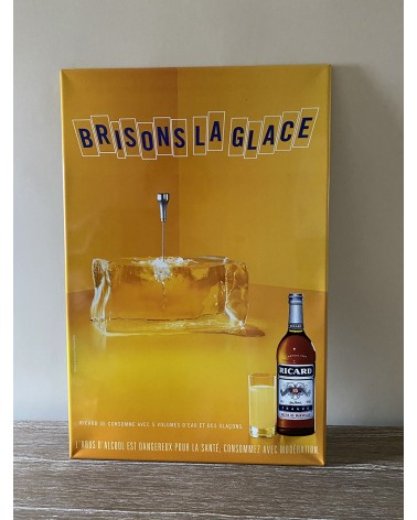 Plaque métal Ricard Brisons la glace
