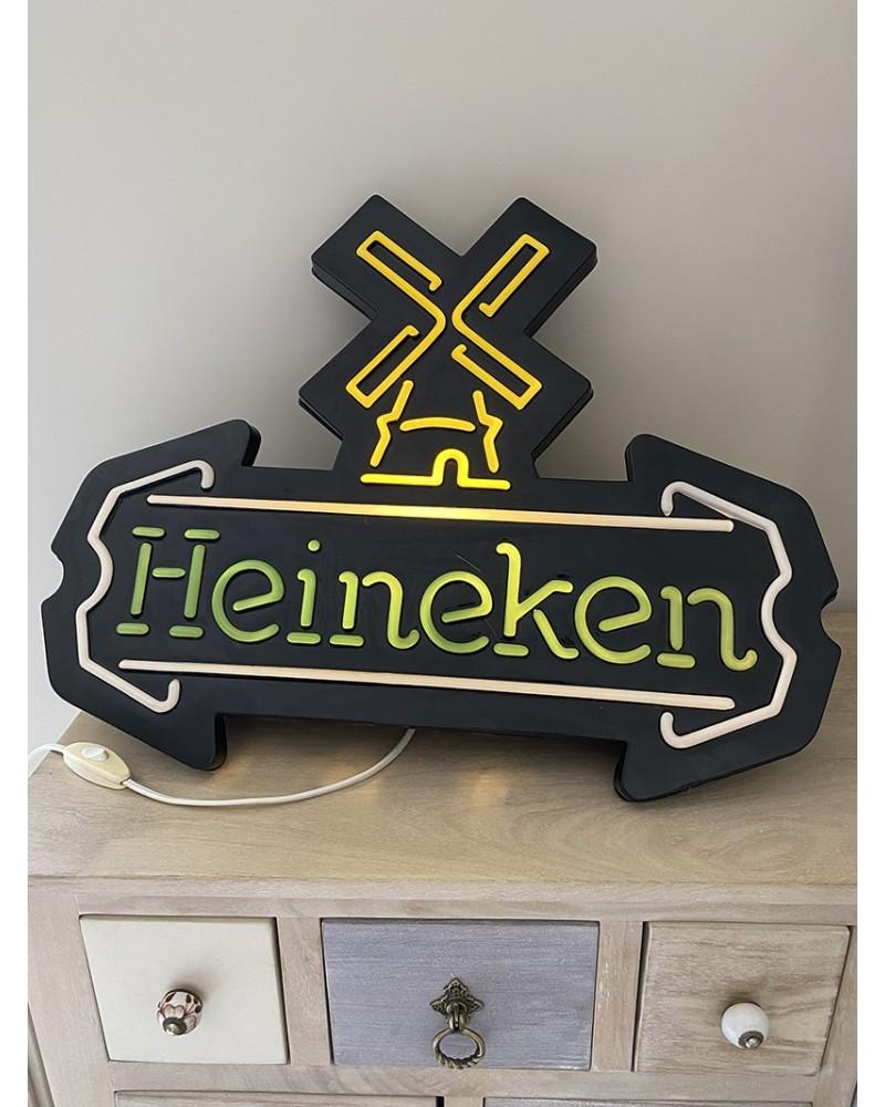 Enseigne lumineuse Heineken vintage