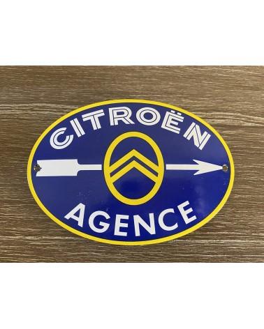 Plaque émaillée Citroën Agence