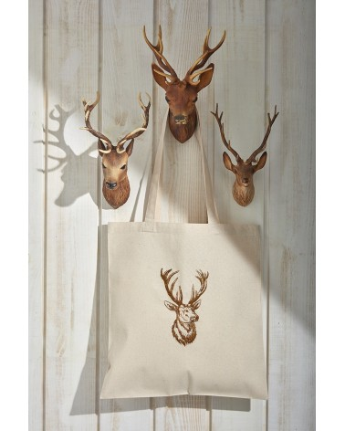 Kit tote bag à broder motif Cerf