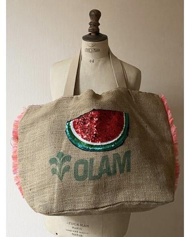Cabas pastèque en sac de grain de café