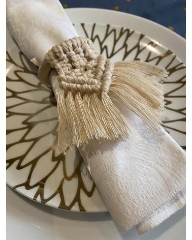 Ronds de serviette macramé