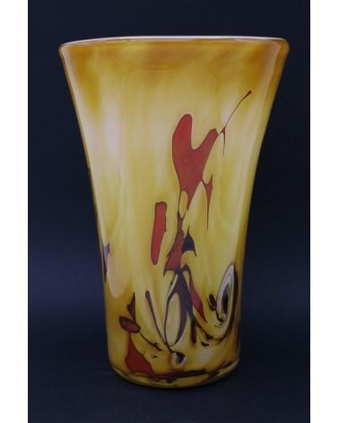 Vase en verre soufflé cristallerie La Rochere