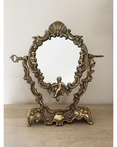 Miroir psyché chérubin ange rocaille