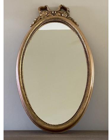 Miroir ovale doré nœud
