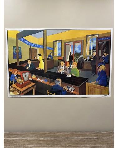 Affiche, carte scolaire Ogé-Hachette La Poste n°8-Chez le dentiste n°21