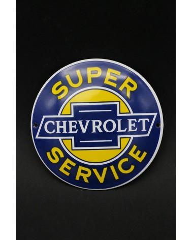 Plaque émaillée Chevrolet Super Service