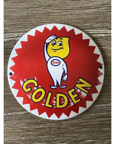 Plaque émaillée Esso Golden