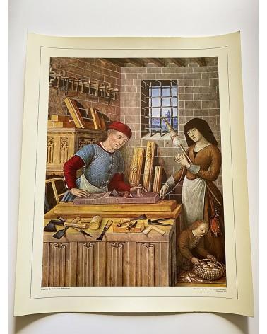 Affiche scolaire éditions CDN - L'atelier du menuisier