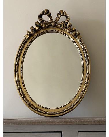 Miroir nœud bois doré