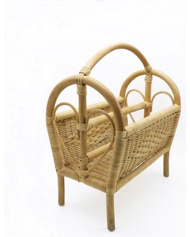 Porte-revue osier et bambou