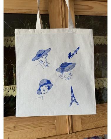 """Tote bag brodé motif """"Les Parisiennes"""""""
