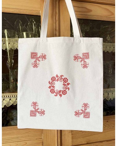 Tote bag brodé couronne Ingo Weisbarth