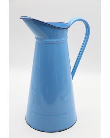 Broc émaillé ancien bleu