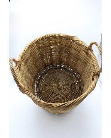 Panière à linge en osier