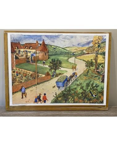 Affiche scolaire Rossignol 3-Le plan du village/ 4-L'automne