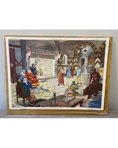 Affiche scolaire Rossignol 11-La vie au Château-Fort/12-La Croisade