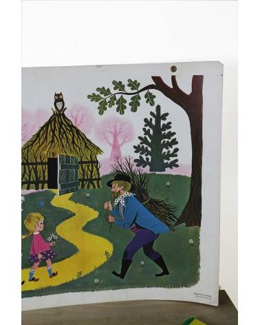 Affiche scolaire Fernand Nathan année 1965 Le Bois