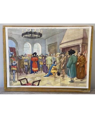Affiche scolaire Rossignol 21-Charles VII et Jeanne d'Arc à Chinon/22- Jeanne d'Arc délivre Orléans