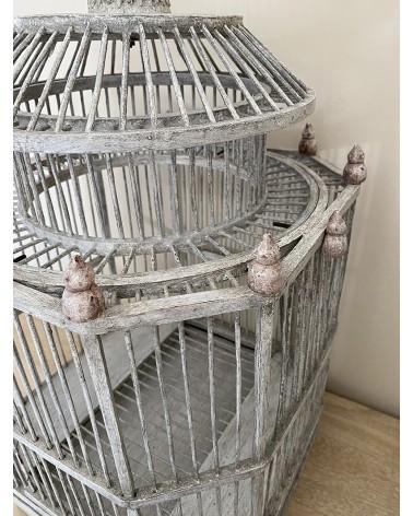 Cage à oiseau décorative en bois