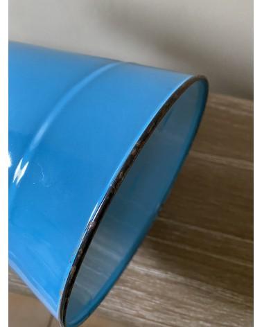Broc émaillé bleu ancien