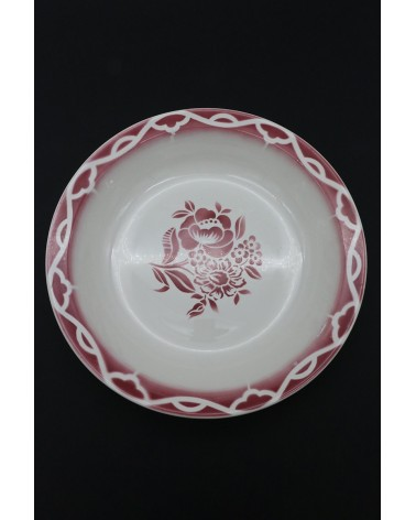 Grand plat creux saladier Digoin Sarreguemines Odette