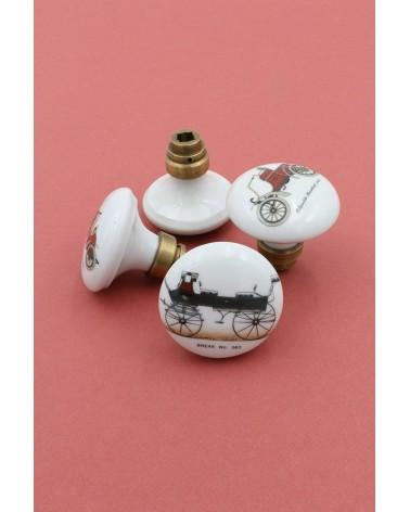 Anciens boutons de porte en porcelaine