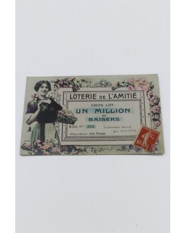 carte postale ancienne Loterie de l'Amitié
