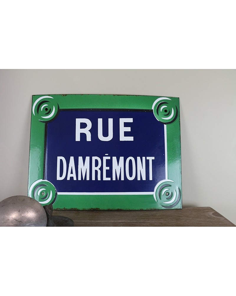 Plaque émaillée ancienne de rue de paris