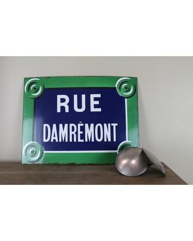 plaque émaillée vintage de rue de Paris