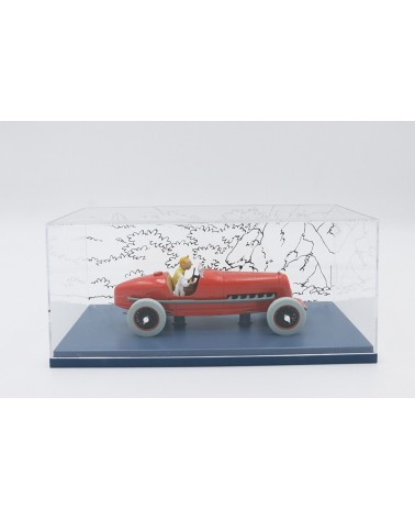 Voiture Tintin Le Bolide Rouge 1/24e
